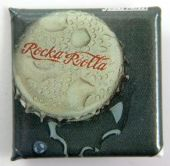 Judas Priest - 'Rocka Rolla Bottle Top' Square Badge